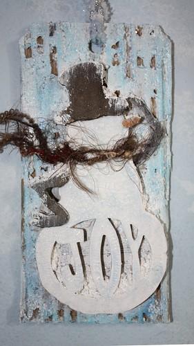 Shabby Snowman