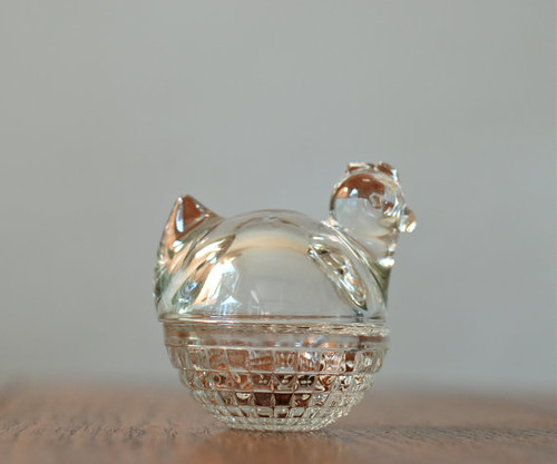 vintage glass chicken