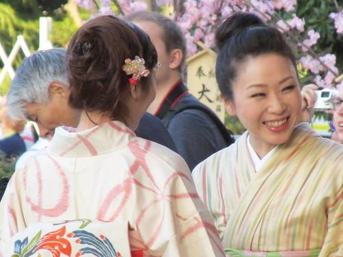 Femmes en kimonos, Asakusa, Tokyo, Japon