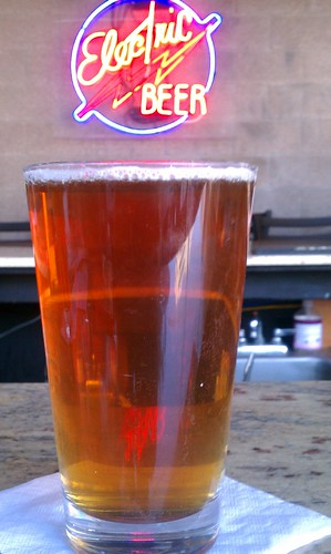 Cold beer at Dave's Electric Brewpub in Tempe