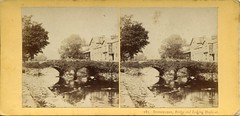 181. Beddgelert, Bridge and Lodging Houʃes at. by Francis Bedford (c.1860)