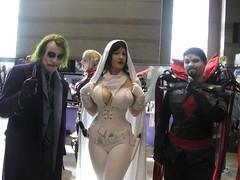 The Joker, Ghost, Mister Sinister (BelleChere) Tags: chicago dc costume comic cosplay ghost joker marvel darkhorse c2e2 mistersinister