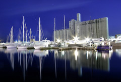 Toronto Harbourfront at Night (SnapHappyExpat) Tags: blue toronto reflection water night wonder boats still waterfront harbourfront dee canadamalting greatphotographers mygearandme mygearandmepremium