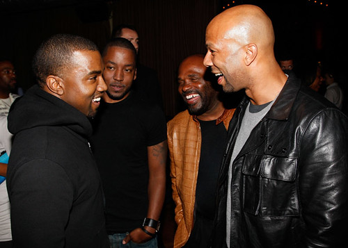 (EXCLUSIVE COVERAGE) Kanye West and Common attend Common's Surprise Birthday Party at The Redbury Hotel on March 13, 2011 in Hollywood, California.