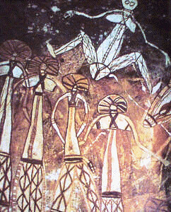 Australia.Rock painting.Neolithic.