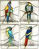 4 Papagaios Tropicais (Aldina Cristino (1952 - 2016)) Tags: vitrail tiffany vitral vetrate papagaios tropicais witraż tiffanyglasmalerei