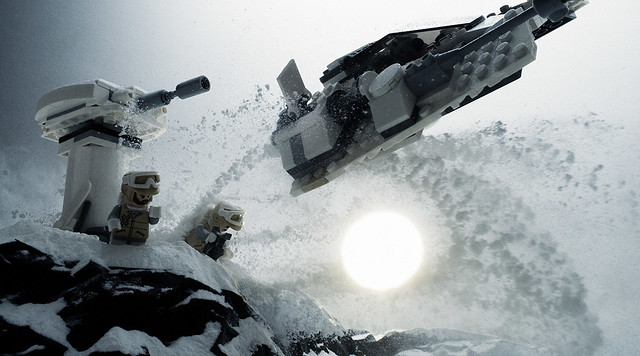 High Speed Snowspeeder Flyby