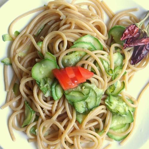 spaghetti e zucchine