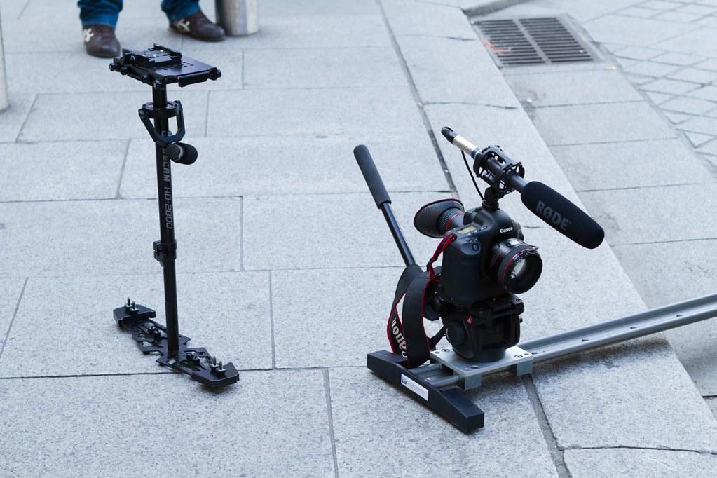 Glidecam HD2000 Glidetrack Canon EOS 5D Mark II Micro Rode
