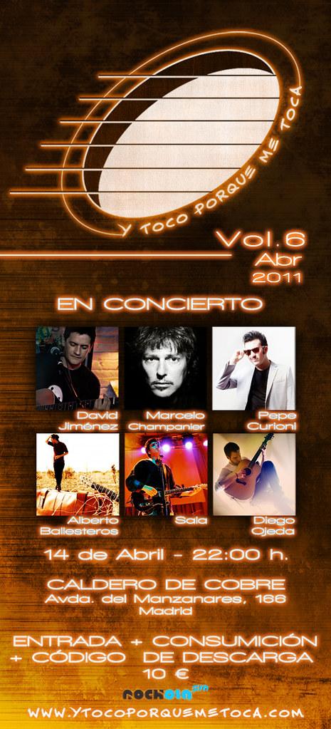 """Flyer Vol.6 14 de abril 2011 """"Y toco porque me toca"""""""