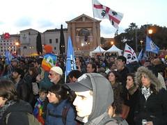 Rom 26.03.2011.: Kundgebung am San Giovanni Platz