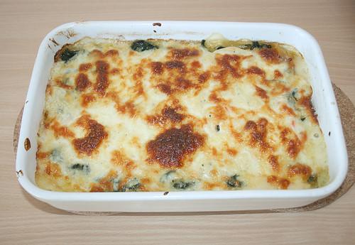 43 - Lachs-Spinat-Lasagne / Salmon spinach lasagne - fertig