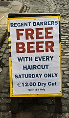 Free Beer With Every Haircut (Dry Cut?)