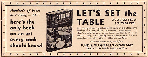 Table-setting ad