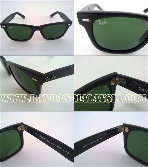 wayfarer 2140 black shinning