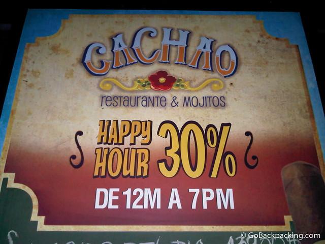 Cachao happy hour