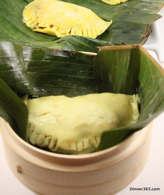 Day 101 Mussel stuffed Dumpling wrapped in Banana leaf