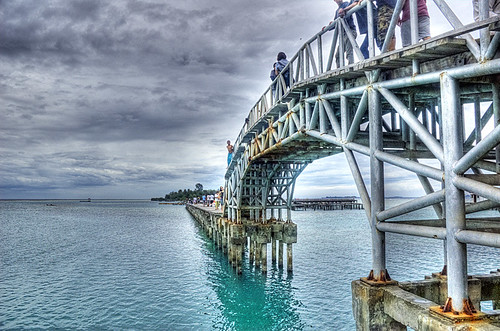 The bridge to Tidung Island