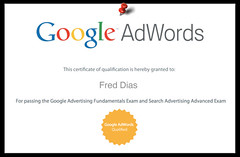Certificado Renovado do Google Adwords para a ...