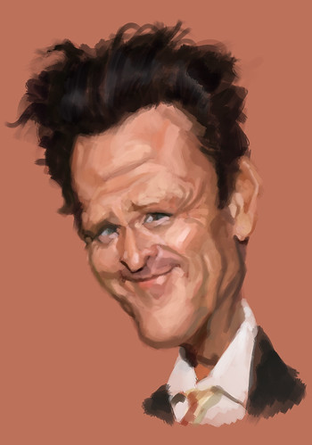 digital caricature of Michael Madsen - 2