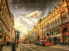 Regent Street  , London . HDR