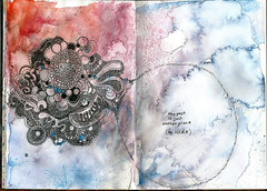 Just Another Place to Hide (AEReeder) Tags: pen ink watercolor circles doodle hide past