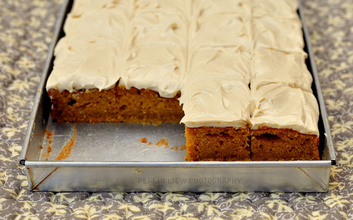 Pumpkin Bars With Maply Frosting