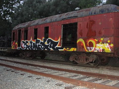 CINCO (Same $hit Different Day) Tags: california train one graffiti bay sweet spot east cinco passenger