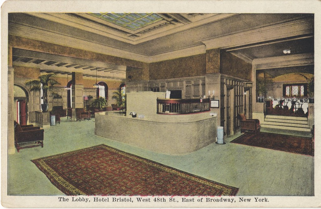 Lobby, Hotel Bristol, New York, 129 West 48th Street