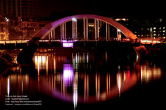 Dhaka at night (  ) (Asif Adnan Shajal) Tags: life city bridge light red summer white black color reflection night work dark photography evening town photo blackwhite triangle asia day photographer picture citylife round dhaka bangladesh basic asif bangla global represent adnan citynight bangladeshi banani gulshan 2011   deshi saarc  dhakabangladesh shajal     gulshanbridge  asifadnanshajal asifadnan  gulsanbridge  shajalmahmud riverdhaka