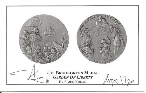 Brookgreen Gardens Medal 2011