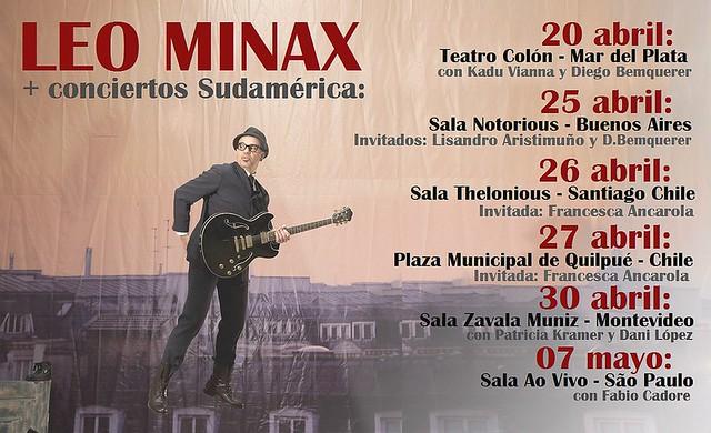 LEO MINAX - MÁS CONCIERTOS EN SUDAMÉRICA