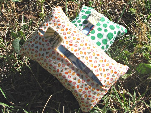 geometric orange travel tissue pack