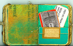 LAT - 2 (Imajica Amadoro) Tags: original abstract art collage book miniature handmade handsewn bookart handbound artistsbooks smallbooks tornpapercollage cutpapercollage tinybooks paperglass mommsen catherinelmommsen alteredbookhandmadebookdecoratedpagesartoriginalartacrylicinkbadgesminiaturebookartbookbookpages