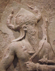 Victory Stele of Naram-Sin with detail of king