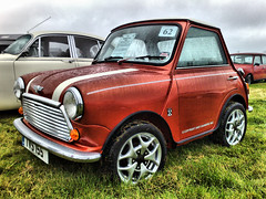 Maureen's MINI(ture) MINI (alan g 63) Tags: orkney classiccar rainyday mini kustom nokian95 custommini andysaunders shortenedmini orkneyvintagerally