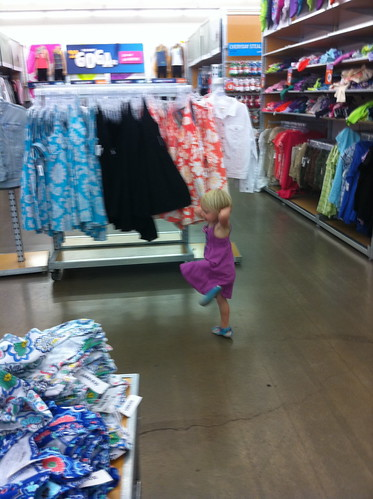 Dancing at Old Navy