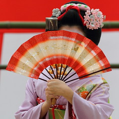 Show me your beaming face (Teruhide Tomori) Tags: travel girl beautiful japan dance kyoto traditional maiko   kimono  miyagawacho       fukuho