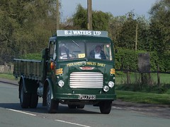 PUJ 703  1958  Leyland Comet  B.J. Waters  A50  Lymm (wheelsnwings2007/Mike) Tags: road cheshire run 1958 waters bj comet leyland a50 703 lymm 2011 puj