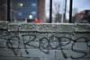Droops (nateOne) Tags: wall 35mm graffiti tag block spraypaint schnivic cinderblock iso1600 droops 35mmf14 nikond700 1800secatf14 focusdistance119m