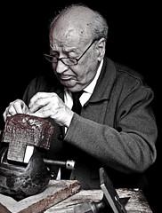 The Craftsman (Ganymede: Photography) Tags: old portrait urban man male nikon candid oldman master toledo craftsman artisan goldsmith castilla candidportrait castillalamancha toletum nikond60