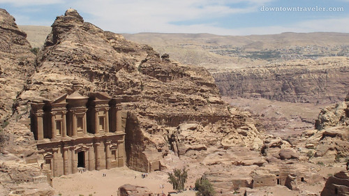 Monestary ruins in Petra Jordan