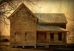 Farm Fancy (Brian Brown Photography/Vanishing Media) Tags: pictures usa architecture farmhouse rural ga photo decay southern ghosttown vernacular tinroof 2011 tattnallcounty folkvictorian vanishingsouthgeorgia copyrightbrianbrown hughland saggingfrontporch