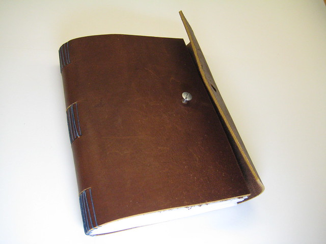 leather sketchbook screwpost fastener