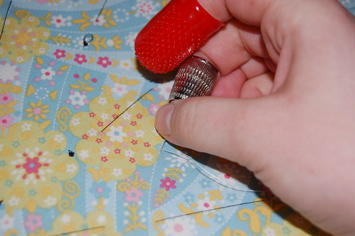 Holding the needle