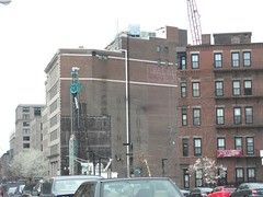 east berkeley towards columbus (l . e . o) Tags: boston crane teal bricks southend backbay apparatus washedout saladatea eastberkeleystreet