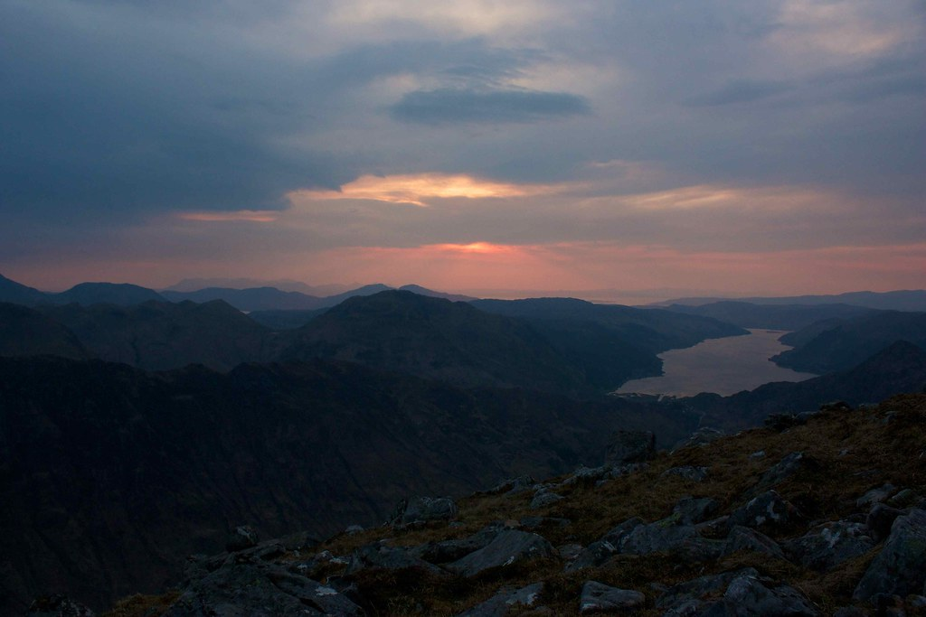 Sunset over Skye and Loch Duich