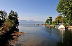 L'embouchure de la Venoge (Diegojack) Tags: eau lac paysages rivires venoge
