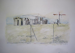 sand  1 (Hava Matzkin Eilam Art) Tags: windows urban art nature pencil watercolor landscape sand drawing air portfolio  holon  hava eilam   matzkin