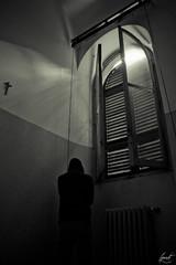 Terror, fear and punishment. (felice_) Tags: light blackandwhite bw window canon god room fear bn finestra dio horror terror dslr luce biancoenero manicomio mentalhospital stanza paura terrore canon1855mm 550d